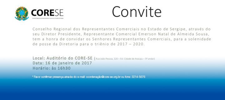 CONVITE – Posse CORE 2017-2020